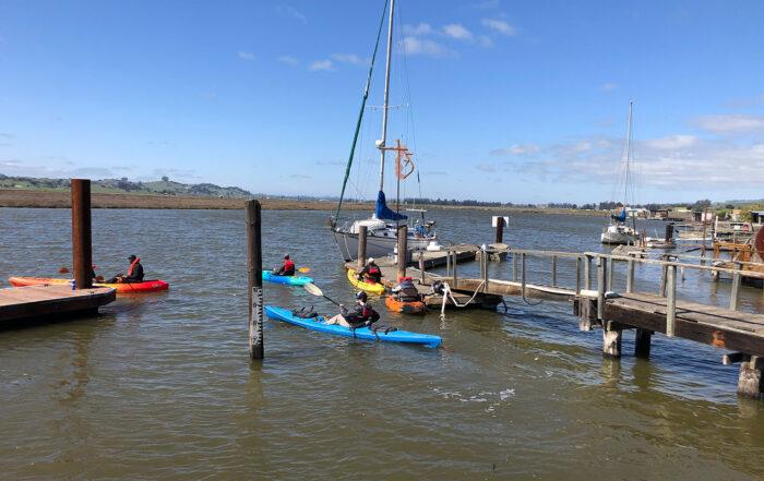 BSA Troop 74 kayaking Petaluma River